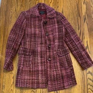 Fab Wool & Mohair Tweed Trench-style Car Coat